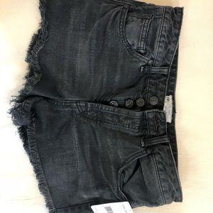 NWT Size 27 Free People black denim shorts